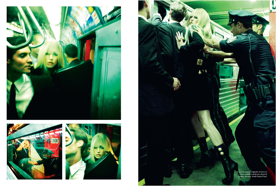 avroccaliterature:  steven-meisel:  Vogue Italia Nov. 2011 - The A Train by Steven Meisel Model: Raquel Zimmermann  PHOTO Adolfo Vasquez Rocca