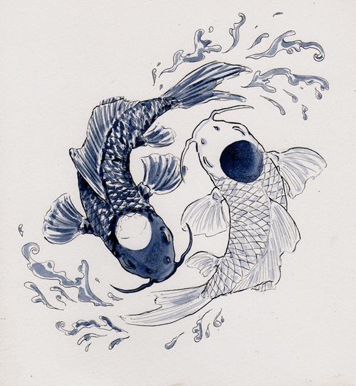 Yin Yang Koi Fish Tumblr