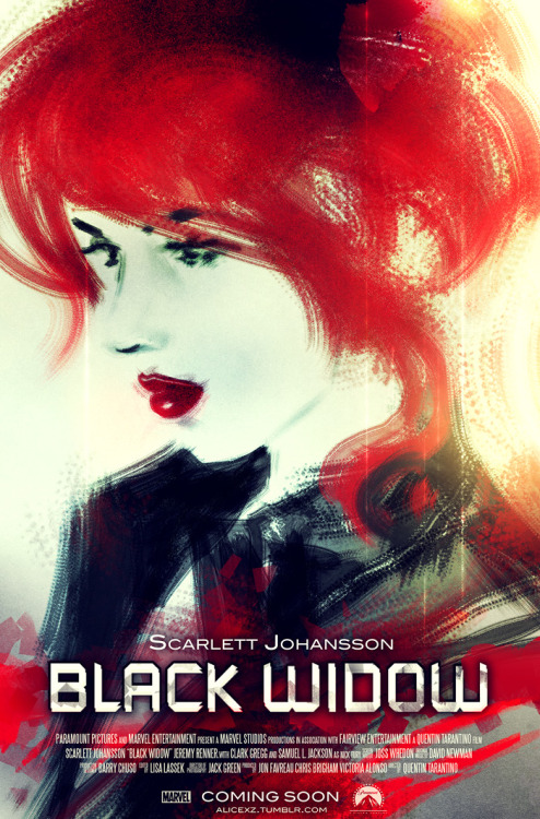 Black Widow movie poster by Alice X Zhang