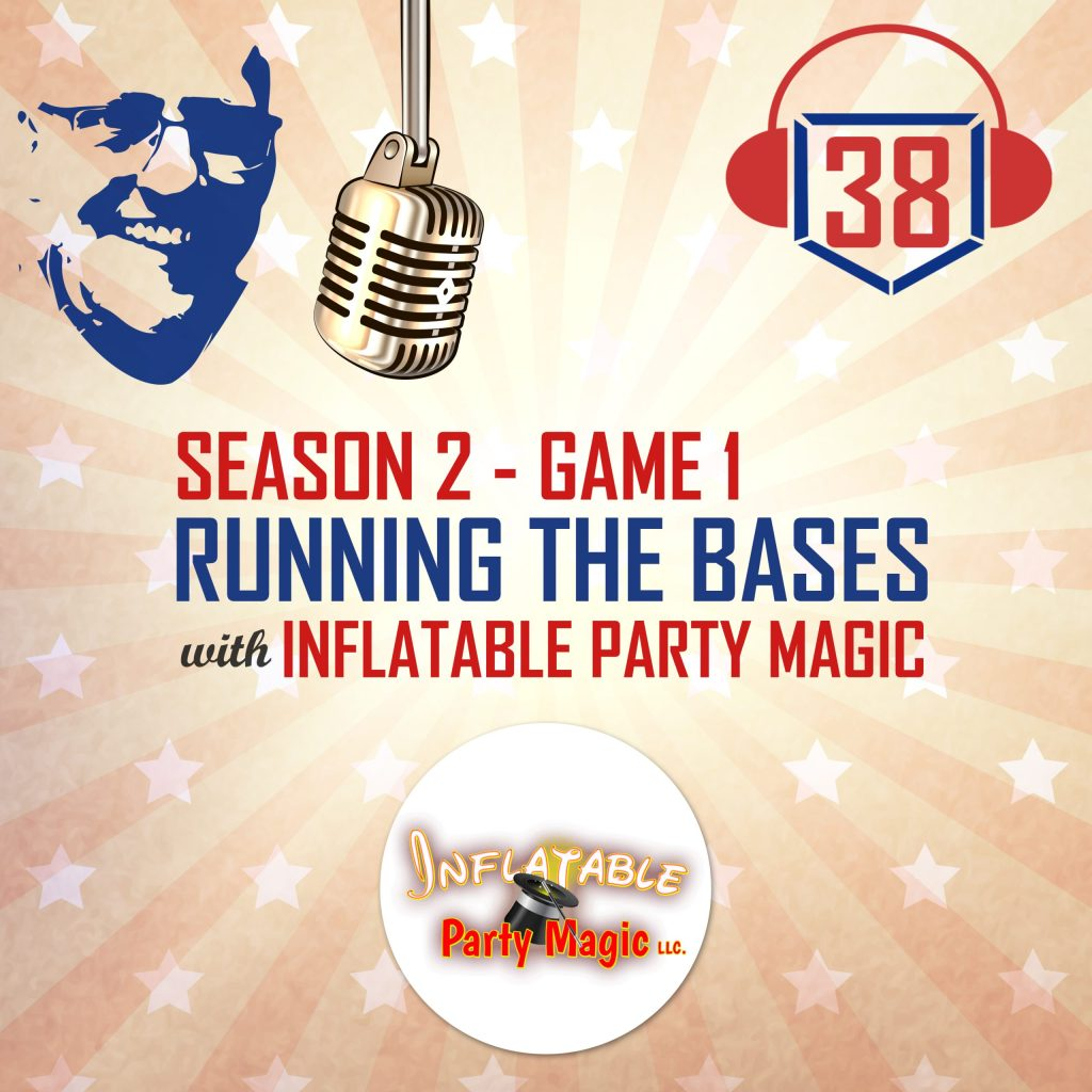 running the bases with Inflatable Party Magic