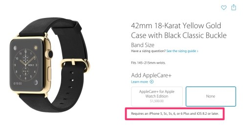 Apple Watch Requires iPhone