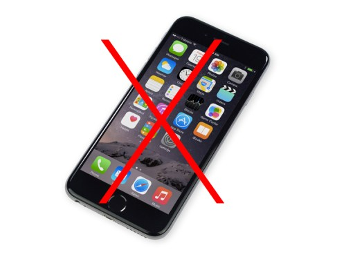 No iPhone