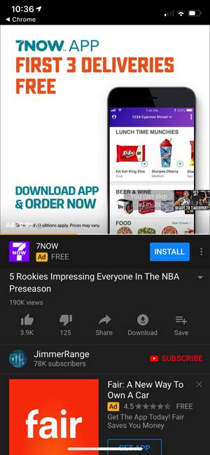 YouTube square ad