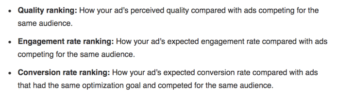 Facebook ad metrics relevance