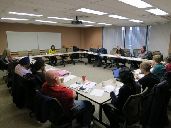BT members, staff members and rank-and-file members continue to caucus.
