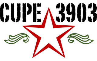 The CUPE 3903 red-star logo