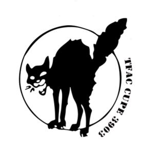 The TFAC logo, a black cat.