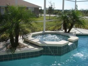 giardini d'inverno con piscina