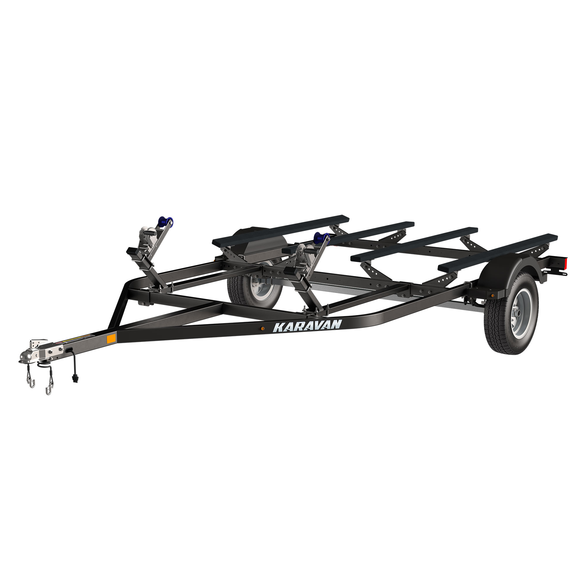 Double Watercraft Steel Trailer W Step Fender