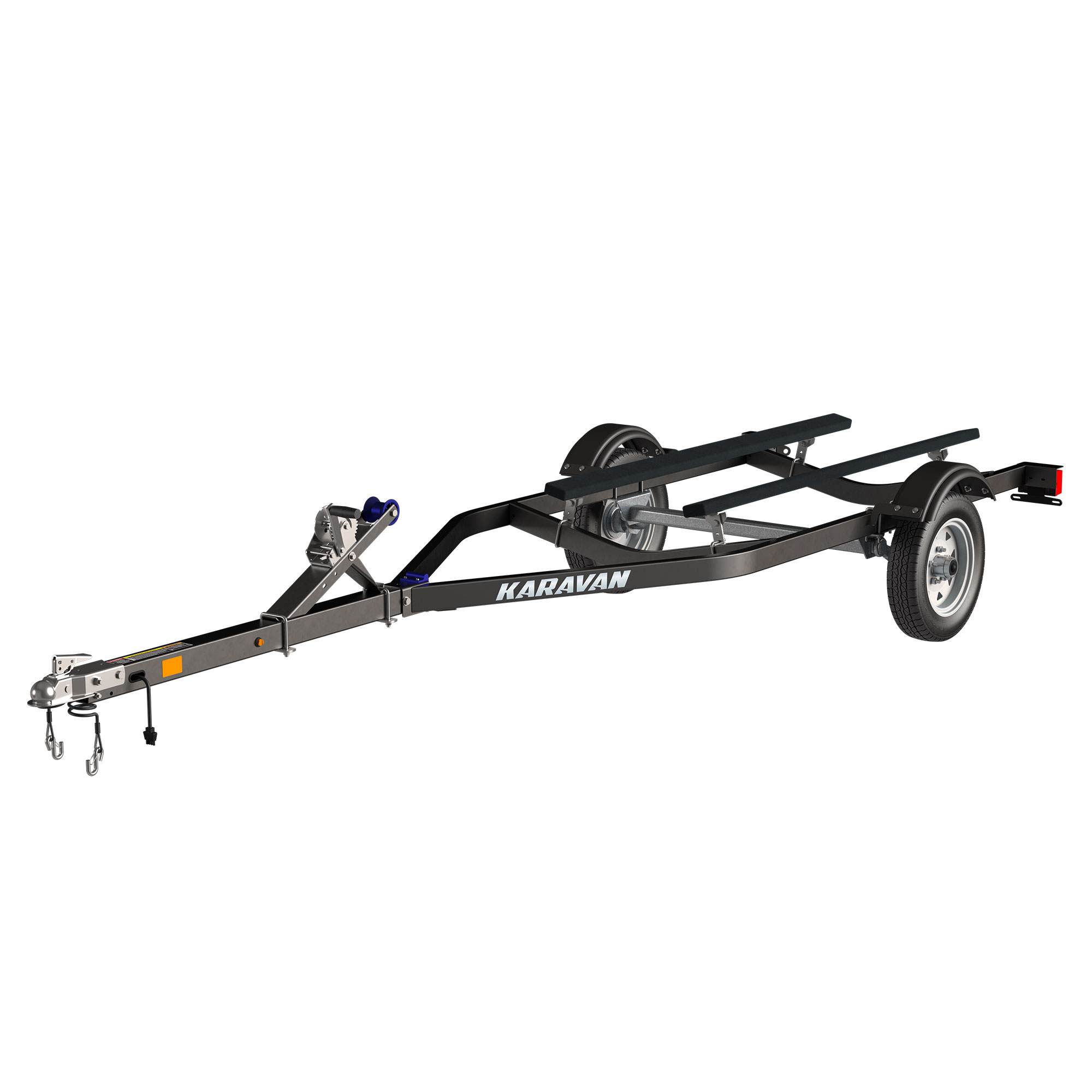 Single Watercraft Low Profile Steel Trailer