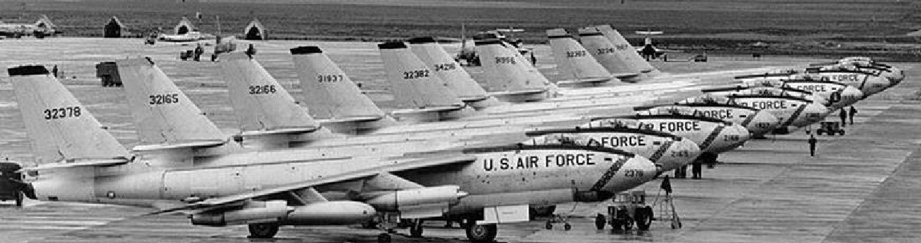 B-47s in Lineup Formation