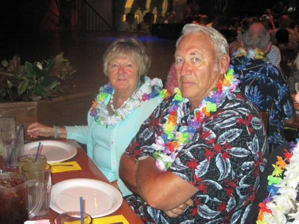 BOB AND MARCIA STERKENBURG AT SEA WORLD LUAU 2009