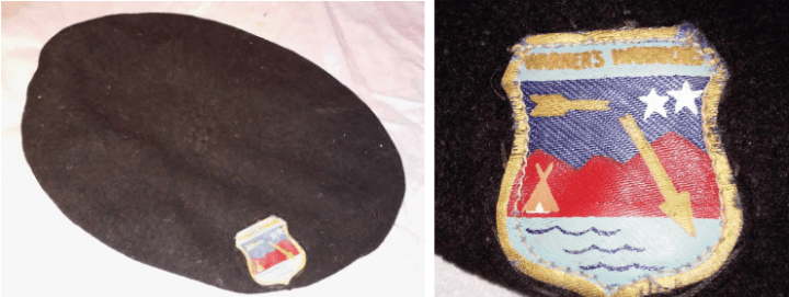 Ken Fish's beret w Warner's Warriors patch