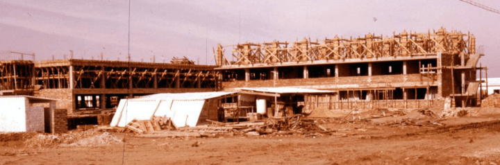 1000px Construction of 3rd barracks 1959