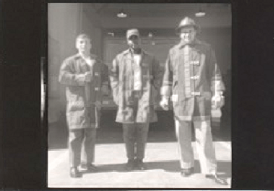 Madden, Fryar, n Miller outside San Pablo fire station EDIT 200px tall