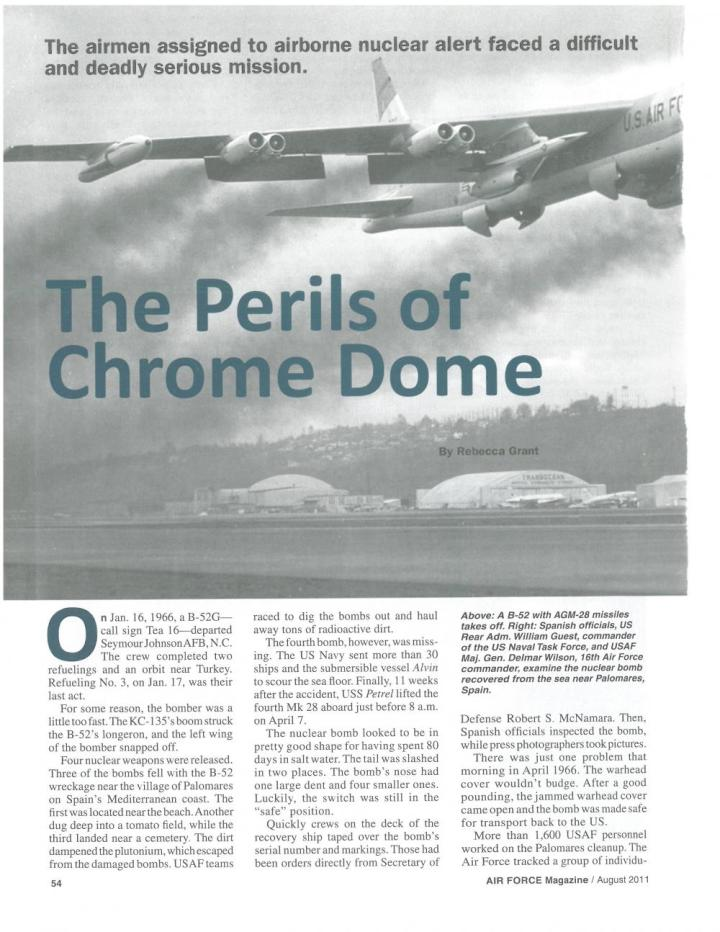 Air Force magazine 2011 article