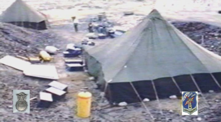 Testing area at Tent City