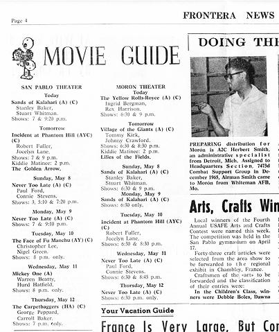 San Pablo movie guide 1966 Edit contr