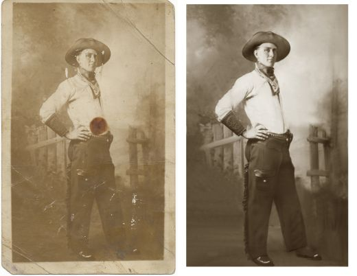 Cowboy Before and After