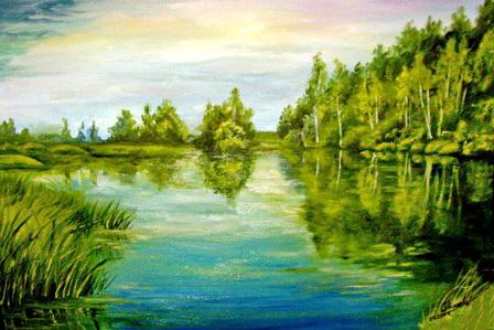 Озеро. Работа Ольги Пылаевой