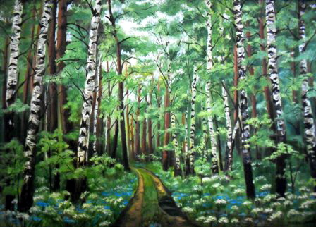 В лесу. Работа Ольги Пылаевой