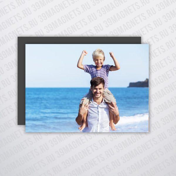 Маленький магнит с вашим фото 5*7 см.