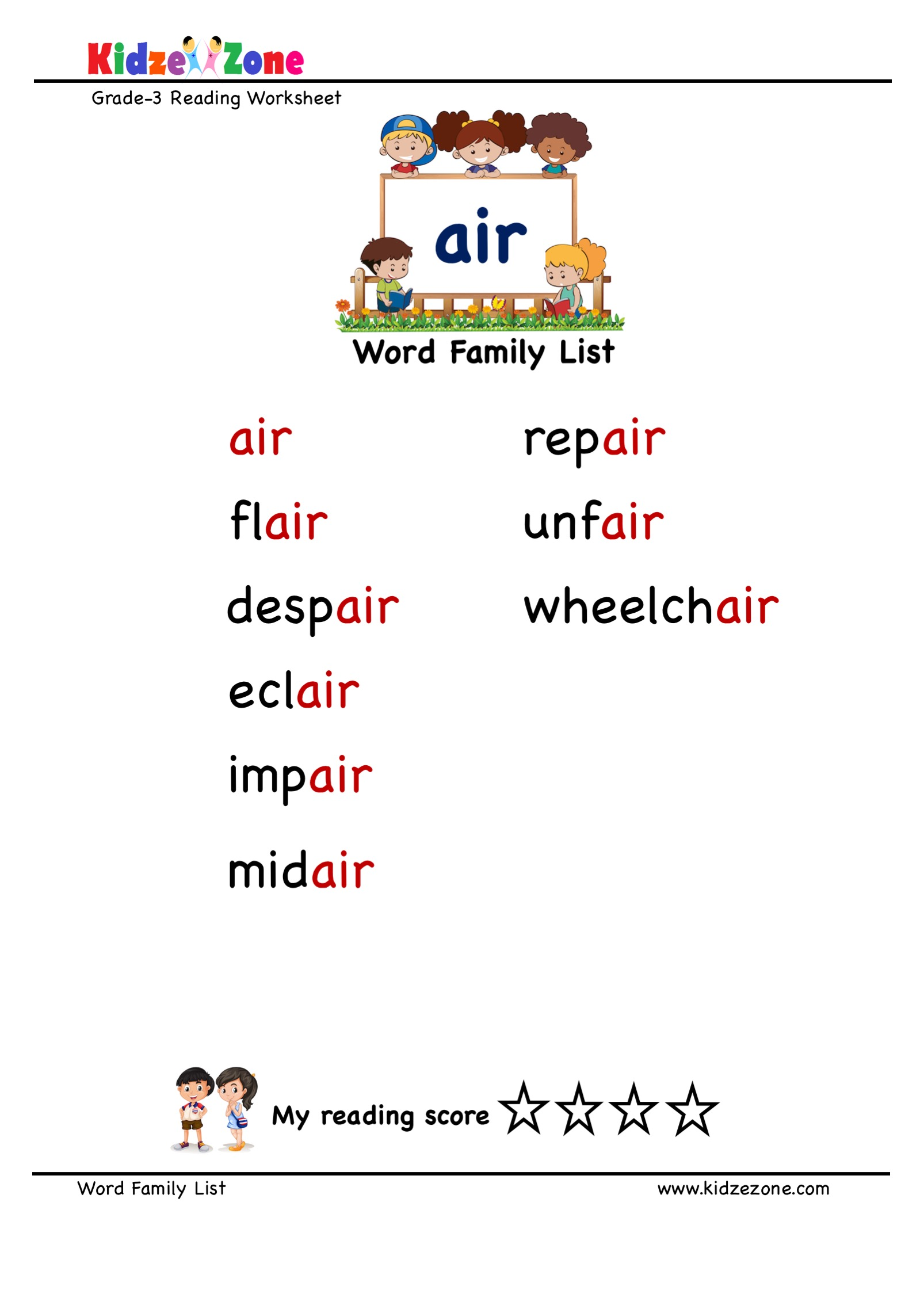 Explore And Learn Words From Air Word Family With Word
