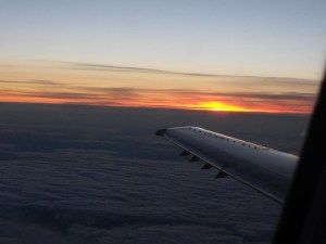 Sky over the Plane Wing