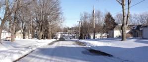 Snow in a Nebraska Neighborhood