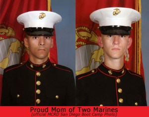 Mother of two Marines, boot camp photos from MCRD San Diego
