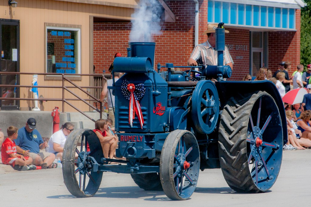 Tractor in the 4th of July parade