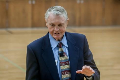 Former Nebraska Husker coach talks about character