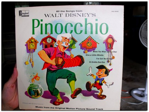 Pinocchio soundtrack 33 rpm Record