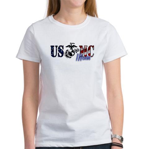 Marine Mom Shirts: USMC MoM EGA T-Shirt