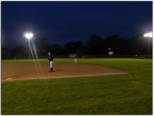 NIght time baseball