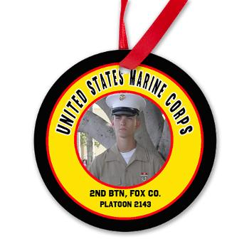 USMC Marine Corps Graduation Ornament, 2nd BTN, Echo, Fox, Golf & Hotel Company