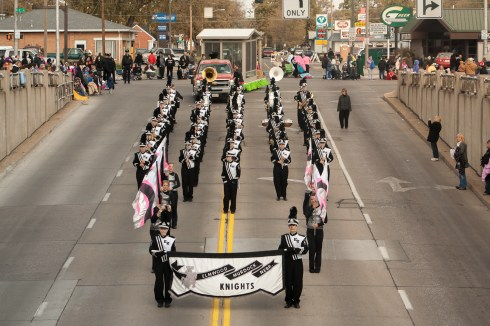 Harvest of Harmony marching band parade
