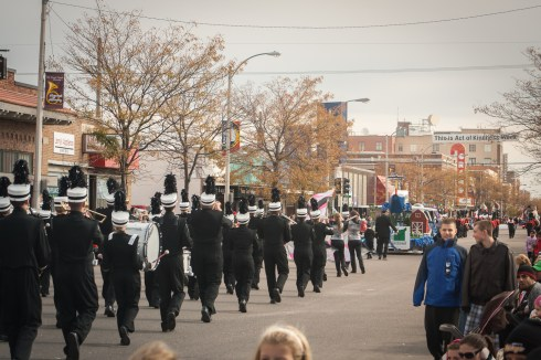 Marching band competition in the Midwest