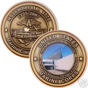 Marine Corps 2007 Birthday Coin