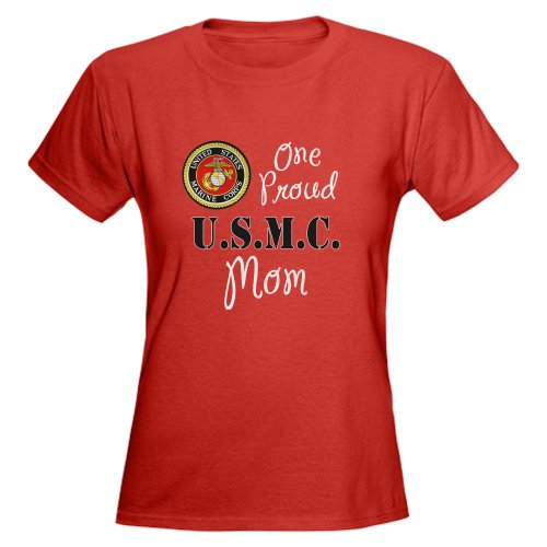 CafePress One Proud Marine Mom T-Shirt Women's Dark