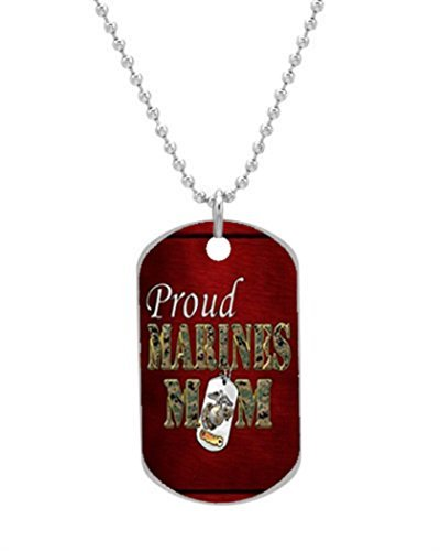 Alokozy® Marine Corps USMC Mom Dog Tag Necklace includes 27