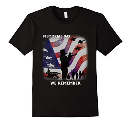 Men's Memorial Day T-Shirt: We Remember Shirt Large Black