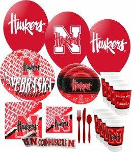Nebraska Cornhuskers Party Supplies Pack #3