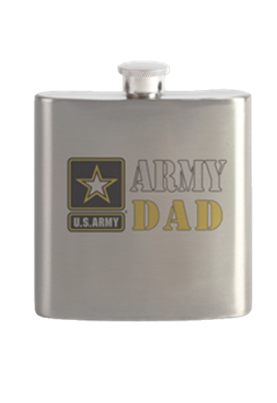 Stainless steel Army Dad flask