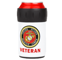 USMC Veteran insulated can Koozy