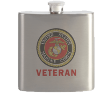 USMC Veteran drinking flask