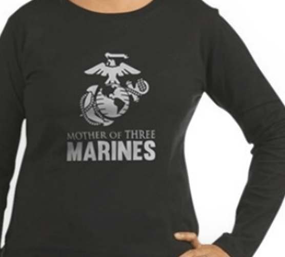 Mother of 3 Marines shirts and gifts