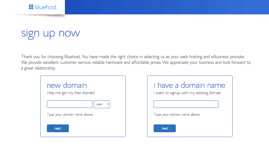 Bluehost Domain Name Set-Up