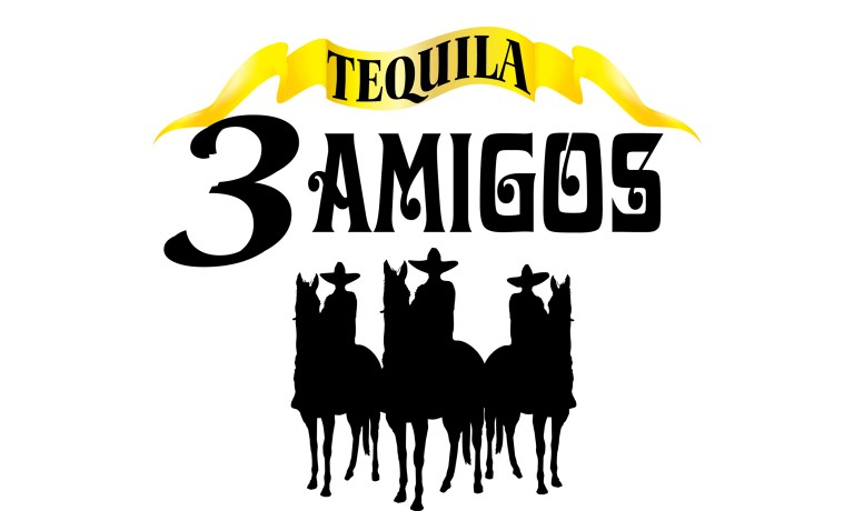3 Amigos Tequila logo h