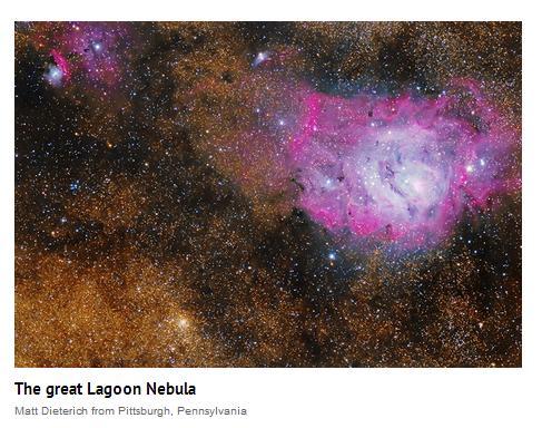 Matt Dieterich's Great Lagoon Nebula Astronomy Magazine POD, August 3, 2016 http://www.mdieterichphoto.com/